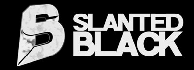 slanted black